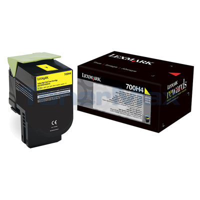 LEXMARK CS410 TONER CARTRIDGE YELLOW 3K